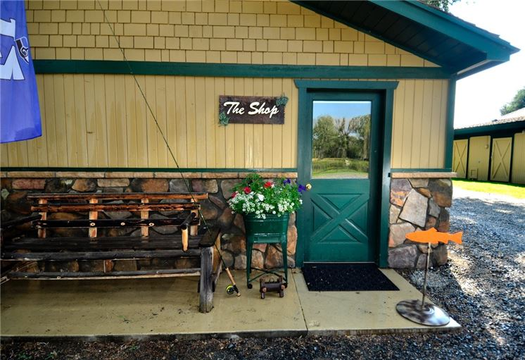 Fly shop exterior healing waters lodge for Fly fishing shops near me