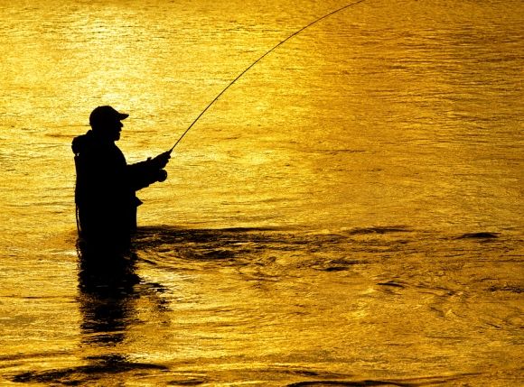 How to hold a fly fishing rod healing waters lodge for Fishing rods near me