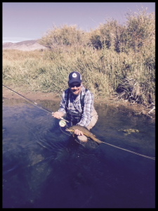 Andy on private water on Mill Creek with Healing Waters Lodge