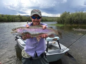Large Rainbow Trout caught on the Jefferson River in Southwest Montana
